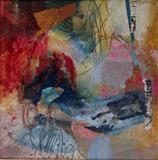 Time and place by Philippa Sibert, Painting, Mixed Media